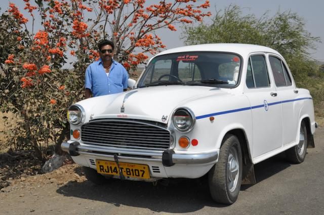 Raj in 2003 with his first Ambassador