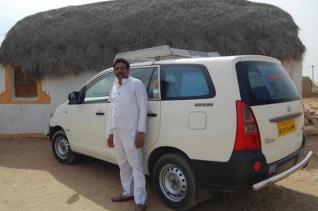 Raj and his Innova car