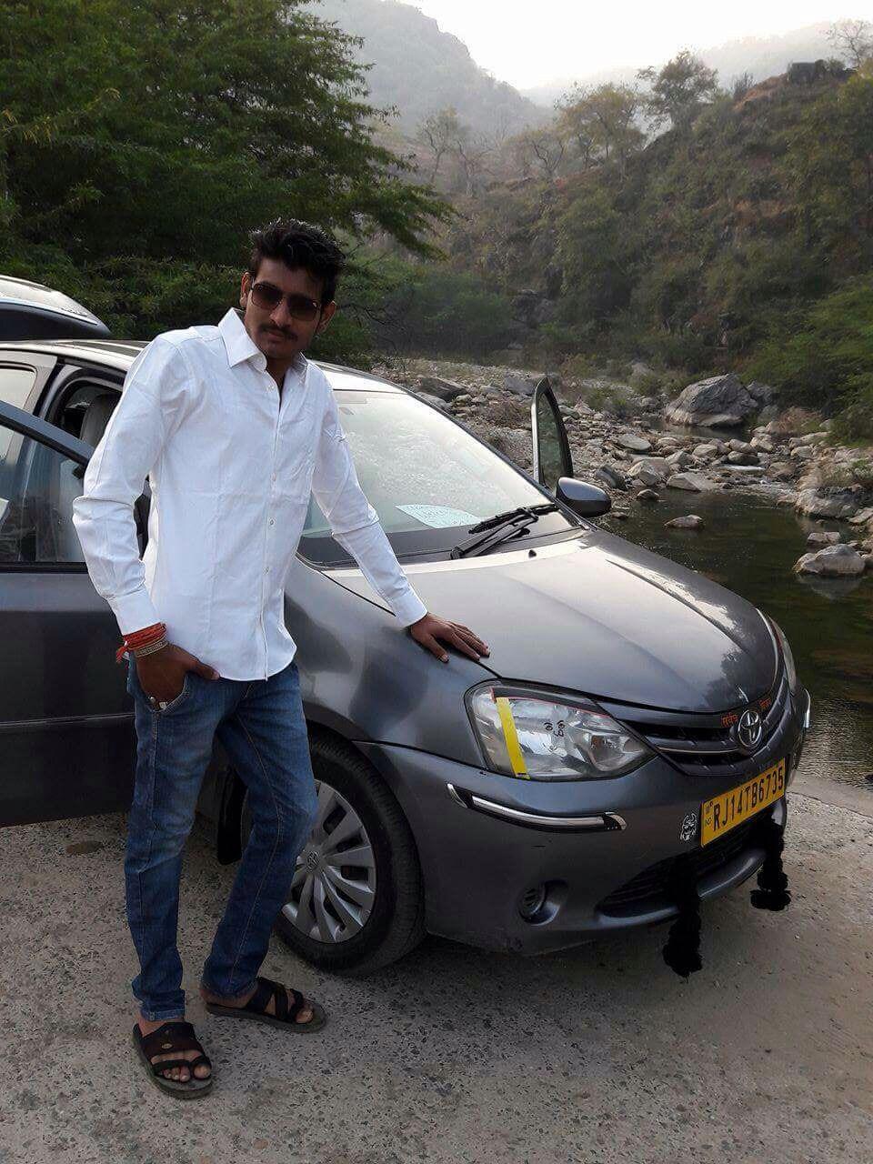 Hari with Etios car